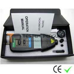 Alat Uji Kecepatan Putaran Poros Laser & Touch Tachometer DT-2236B